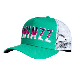 Šiltovka TWINZZ Gradient Mesh Trucker green/white/purple