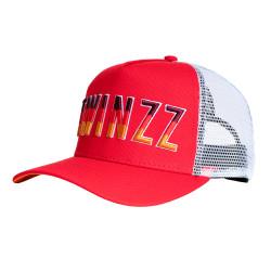 Šiltovka TWINZZ Gradient Mesh Trucker red/white/orange