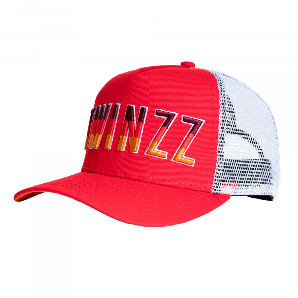 Šiltovka TWINZZ Gradient Mesh Trucker red/white/orange