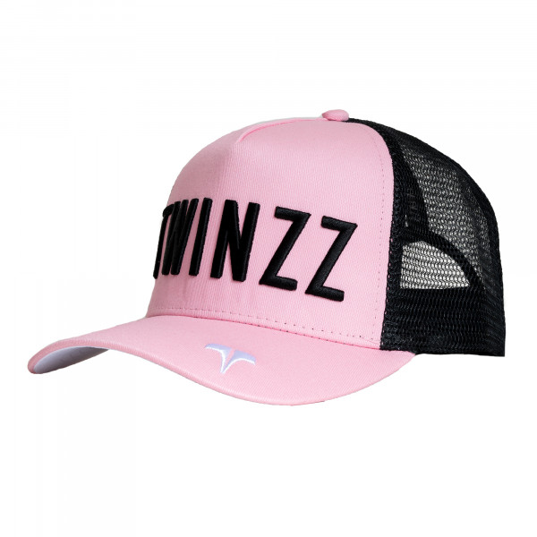 Šiltovka TWINZZ Core Tri-Color Trucker baby pink/black/white