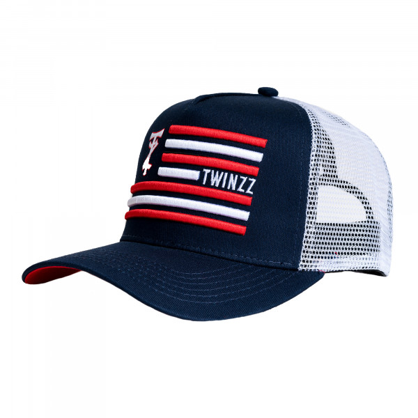 Šiltovka TWINZZ Flag Trucker navy/white/red
