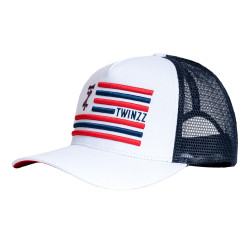 Šiltovka TWINZZ Flag Trucker white/navy/red