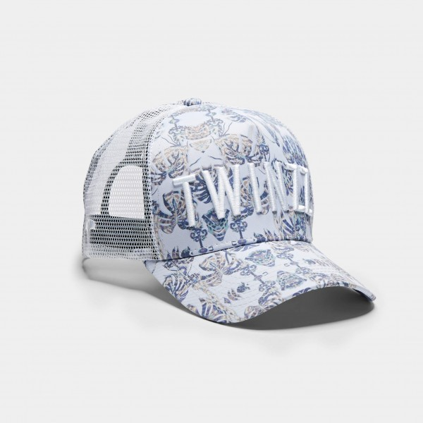 Šiltovka TWINZZ Palm Off trucker white