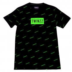 Tričko TWINZZ Pinelli Tee black/lime
