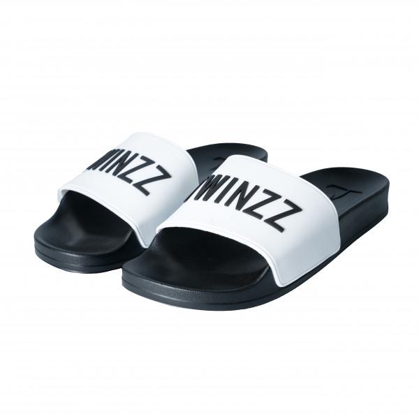 Šľapky TWINZZ Positano white/black
