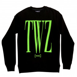 Mikina TWINZZ Rossi Sweatshirt black/lime