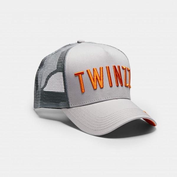 Šiltovka TWINZZ Tri-color trucker grey/orange