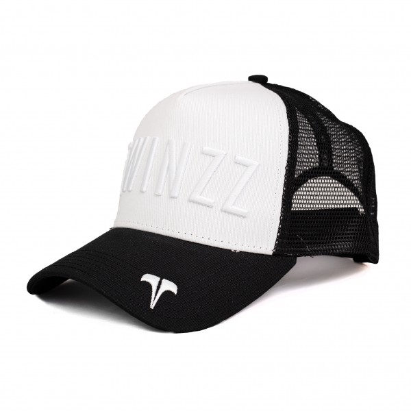 Šiltovka TWINZZ Tri-color trucker YingYang black/white