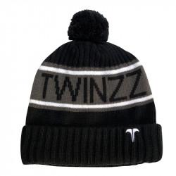 Zimná čiapka TWINZZ Vancouver Jacquard black/charcoal/white