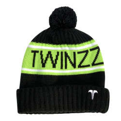 Zimná čiapka TWINZZ Vancouver Jacquard black/lime/white