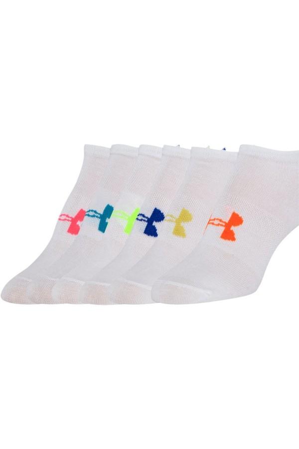 Detské ponožky UNDER ARMOUR Girls Solid 6Pk No Show