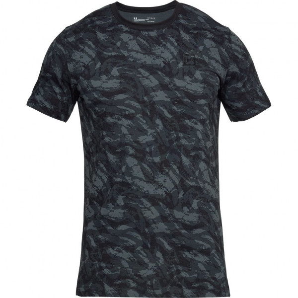 Tričko UNDER ARMOUR Aop Sportstyle Tee Black