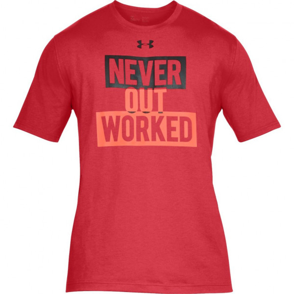 Tričko UNDER ARMOUR Never Out Worked Red
