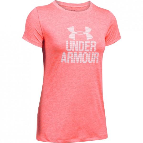 Tričko UNDER ARMOUR Tech Crew- Graphic Twist Pink